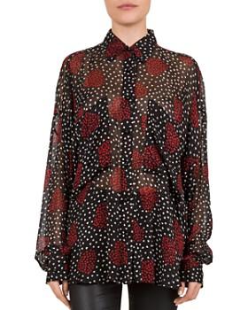 The Kooples - Bouquet De Coeur Noir Shirt