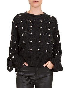 The Kooples - Embellished Batwing Sweater