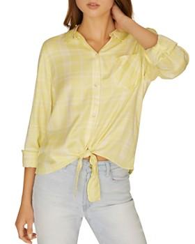 64892552531 Sanctuary - Hayley Plaid Tie-Front Shirt ...