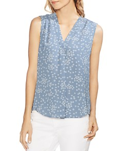 VINCE CAMUTO - Ditsy Showers Floral Print Top