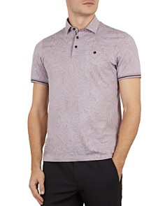 Ted Baker - Vaness Leaf Print Slim Fit Polo Shirt