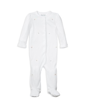 Ralph Lauren - Girls' Embroidered Cotton Footed Coverall - Baby