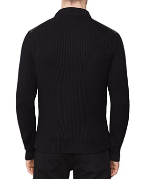 REISS - Watson Knit-Sleeve Quilted Jacket
