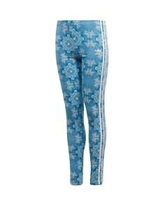 Adidas - Girls' Tile Print Side-Stripe Leggings - Big Kid
