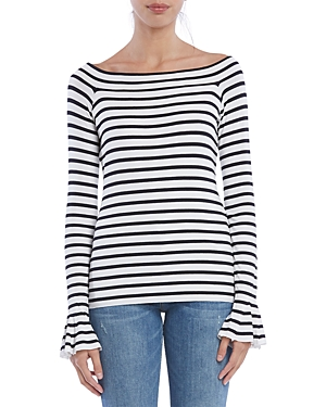 Bailey44 Tops BELL-SLEEVE STRIPED TOP