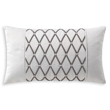 "Waterford - Aidan Embroidered Decorative Pillow, 11"" x 20"""