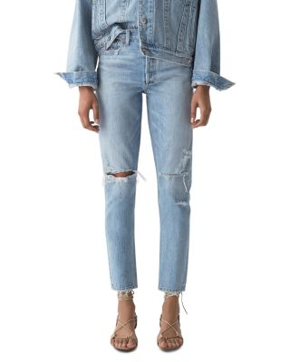 Jamie High Rise Tapered Jeans In Shakedown by Agolde