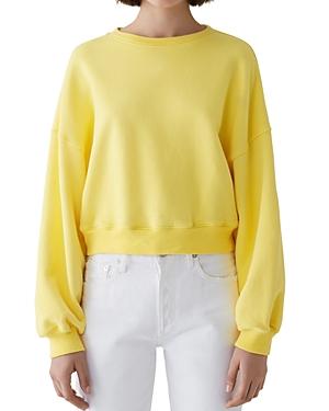 Agolde T-shirts CROP SWEATSHIRT