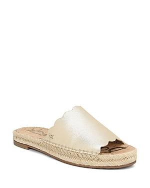 Sam Edelman Sandals WOMEN'S ANDY ESPADRILLE SLIDE SANDALS