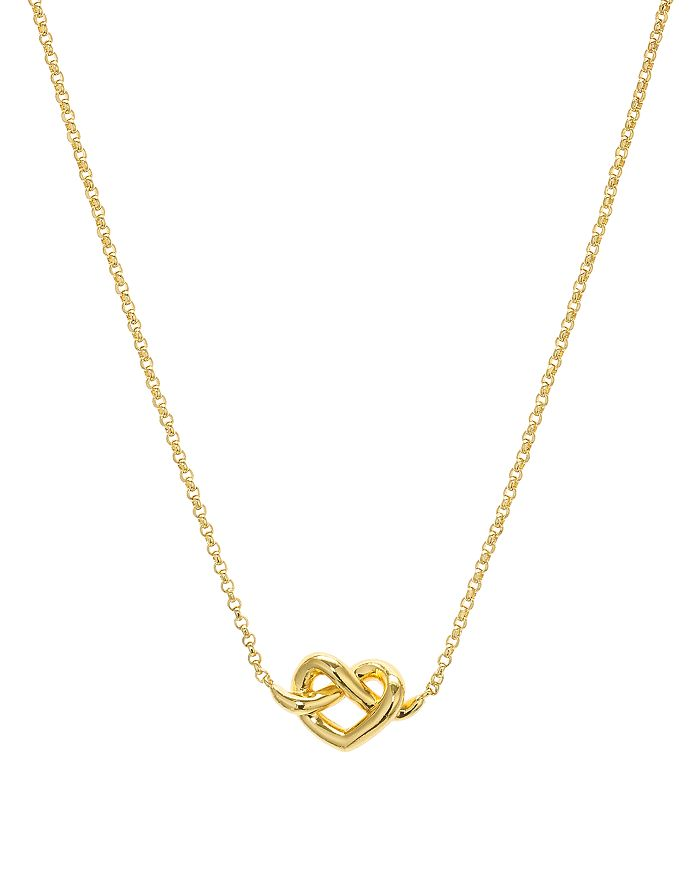 kate spade new york - Loves Me Knot Mini Pendant Necklace, 16""