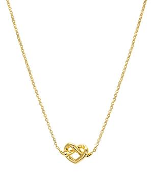 kate spade new york Loves Me Knot Mini Pendant Necklace, 16