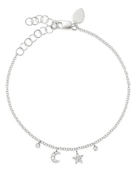 Meira T - 14K White Gold Diamond Moon & Star Bracelet