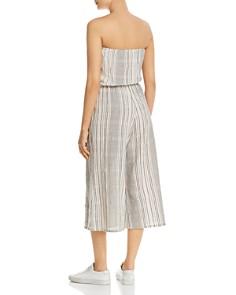 Elan - Strapless Striped Cropped Jumpsuit