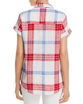 BeachLunchLounge - Short-Sleeve Plaid Shirt