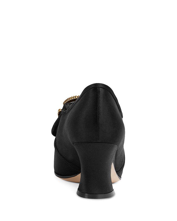 38c61c69cbe Gucci - Women s Satin Double G Mid-Heel Pumps