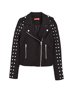 AQUA - Girls' Studded Ponte Moto Jacket, Big Kid - 100% Exclusive