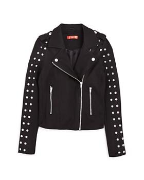 e898e9828791b AQUA - Girls  Studded Ponte Moto Jacket
