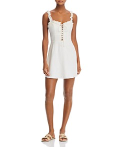 Finders Keepers - Lola Ruffled Lace-Up Dress - 100% Exclusive
