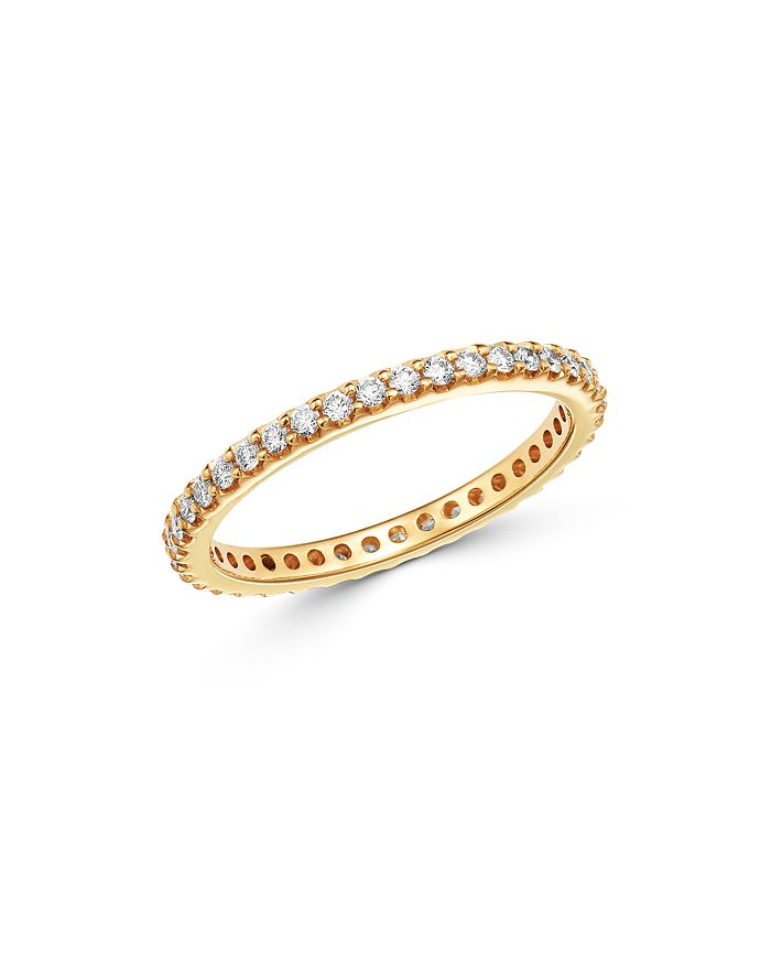 Bloomingdale's - Diamond Eternity Stacking Band in 14K Yellow Gold, 0.50 - 100% Exclusive
