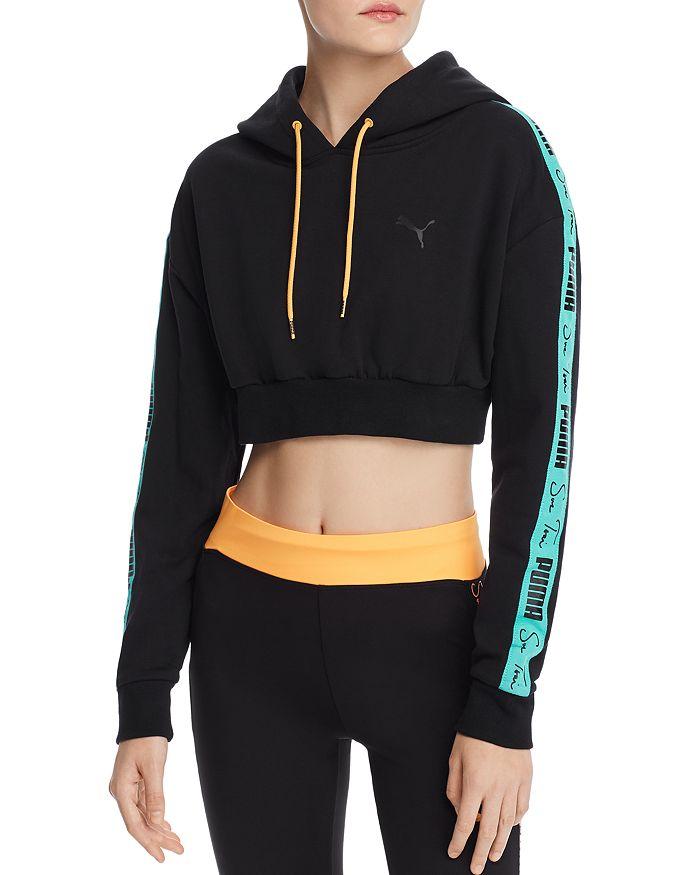 d97ba35406 x Sue Tsai Lotus Cropped Hooded Sweatshirt