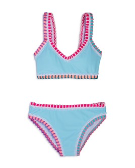 Platinum inspired by Solange Ferrarini - Girls' Rainbow Embroidered Two-Piece Swimsuit, Little Kid, Big Kid - 100% Exclusive