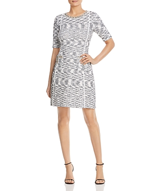 Misook Dresses EMBELLISHED ABSTRACT PATTERN DRESS