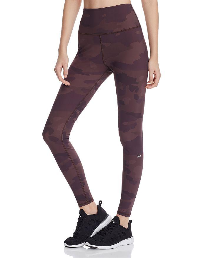 Alo Yoga Pants Vapor High-Rise Camo Leggings