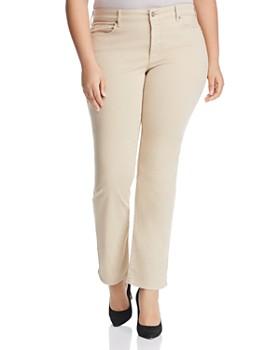 c63ff01dc71e6 NYDJ Plus - Marilyn Sateen Straight Leg Jeans in Straw ...