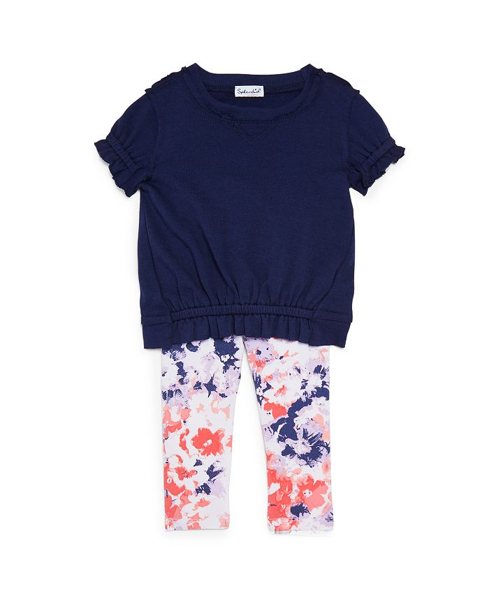 Splendid - Girls' Watercolor Floral Leggings Set - Baby