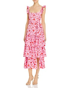 LIKELY - Tiered Floral-Print Dress