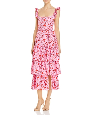 Likely Dresses TIERED FLORAL-PRINT DRESS
