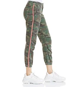 Sundry - Striped-Trim Camo Jogger Pants