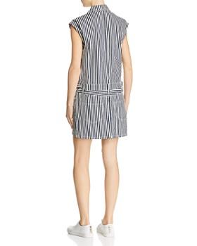 Current/Elliott - Striped Button-Front Denim Dress