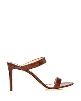 Giuseppe Zanotti - Women's Croc-Embossed Double Strap High-Heel Sandals