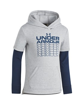 Under Armour - Boys' Fade-Out Layered-Look Hoodie - Little Kid