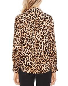 VINCE CAMUTO - Leopard-Print Faux-Wrap Blouse