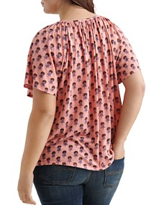 Lucky Brand Plus - Short-Sleeve Floral-Print Top