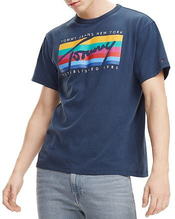 Tommy Jeans - Rainbow Logo Graphic Tee