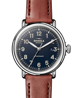 Shinola - The Runwell Cognac Leather Strap Automatic Watch, 45mm