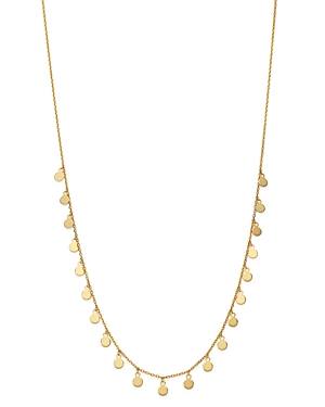 Moon & Meadow Disc Charm Necklace in 14K Yellow Gold, 18 - 100% Exclusive