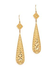 Bloomingdale's - Filigree Teardrop Earrings in 14K Yellow Gold - 100% Exclusive