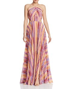 Amur - Painted-Stripe Maxi Dress
