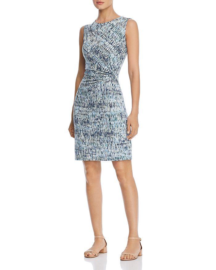 NIC and ZOE - Sleeveless Printed Twist-Front Sheath Dress