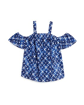 Mini Series - Girls' Geo Print Cold-Shoulder Top, Little Kid - 100% Exclusive