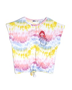 Mini Series - Girls' Tie-Dyed Knotted Tee, Little Kid - 100% Exclusive