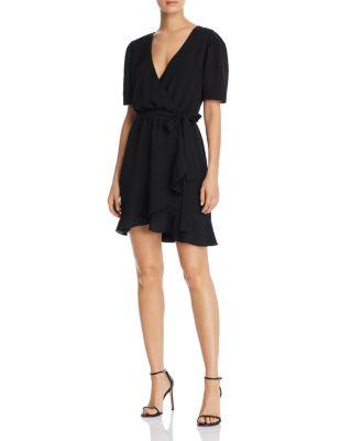 Ruffled Faux Wrap Dress   100 Percents Exclusive by Aqua