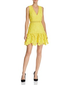 Alice and Olivia - Marleen Lace Fit-and-Flare Dress