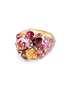 JOHN HARDY - 18K Yellow Gold Classic Chain Cluster Ring with Multi-Gemstones