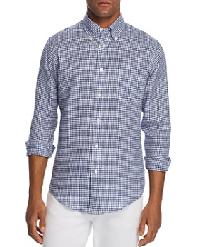 Brooks Brothers - Gingham Linen Classic Fit Button-Down Shirt