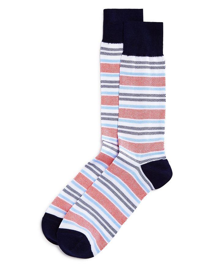 The Men's Store at Bloomingdale's - Birdseye Striped Socks - 100% Exclusive